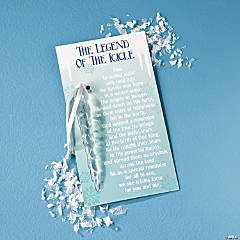 """The Legend of the Icicle"" Christmas Ornaments on Cards"