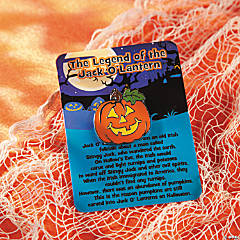"""The Legend of the Jack O'Lantern"" Pins on Cards"
