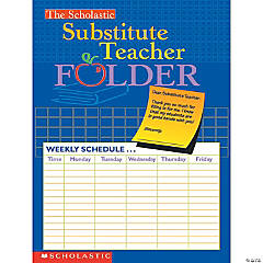 The Scholastic Substitute Teacher Folder - Set of 10