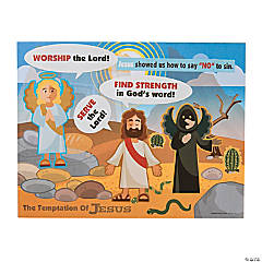 The Temptation of Jesus Sticker Scenes