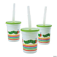 The Very Hungry Caterpillar™ Plastic Tumblers with Lids & Straw