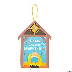This Baby Changed Everything Religious Sign Craft Kit