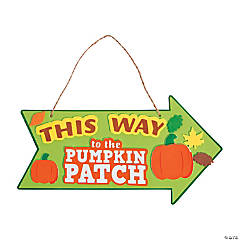 This Way to the Pumpkin Patch Sign Craft Kit