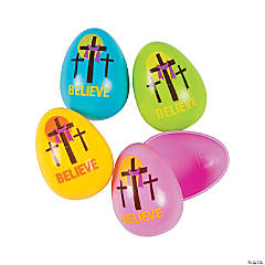 Three Cross Plastic Easter Eggs