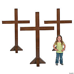 Three Crosses Cardboard Stand-Ups