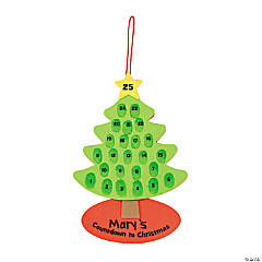 Thumbprint Countdown to Christmas Sign Craft Kit