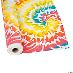 Tie Dye Plastic Tablecloth Roll