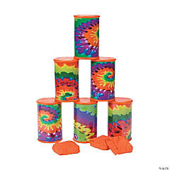 Tie-Dyed Can Toss Game
