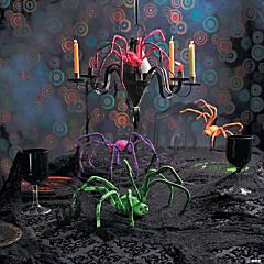 Tie-Dyed Decorative Spider Set