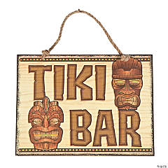 Tiki Bar Wooden Sign