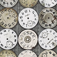 Tim Holtz  8Yd D/R-Time Pieces - Taupe