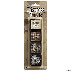 Tim Holtz Distress Mini Ink Pads 4/Pkg- Kit 3