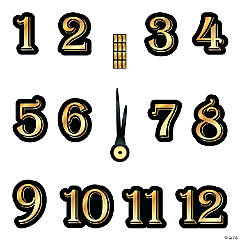 Timeless Glamour Clock Cutouts
