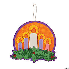 Tissue Acetate Advent Wreath Craft Kit