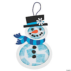 Tissue Paper & Foam Snowman Craft Kit