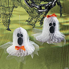 Tissue Paper Bell Ghosts Idea