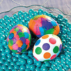 Tissue Paper Easter Egg Idea