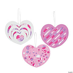 Tissue Paper Heart Ornament Craft Kit