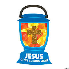 Tissue Paper Jesus Lights the Way Sign Craft Kit