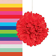 tissue paper pom pom decorations - Decorations