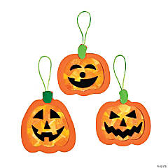 Tissue Paper Pumpkin Ornament Craft Kit