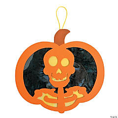 Tissue Paper Pumpkin Skeleton Ornament Craft Kit