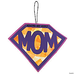 Tissue Paper Super Mom Sign Craft Kit