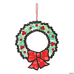 Tissue Paper Wreath Craft Kit