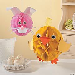 Tissue Pom-Pom Easter Critters Craft Idea