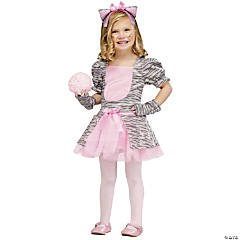 Toddler Girl's Grey Kitten Costume - 3T-4T