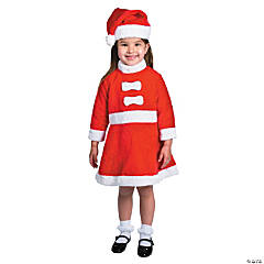 Toddler Girl's Santa Costume