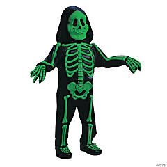 Toddler Green Color Bones Costume - 2T