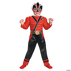 Toddler's Muscle Red Ranger Samurai Costume
