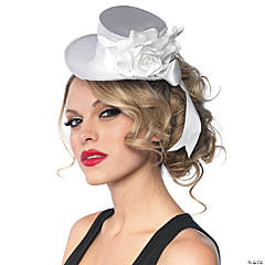 Top Hat Mini Satin White