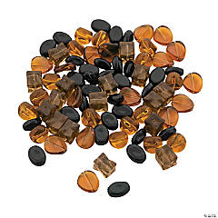 Topaz & Tawny Bead Mix - 11mm - 18mm