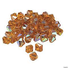 Topaz Aurora Borealis Crystal Bicone Beads - 8mm