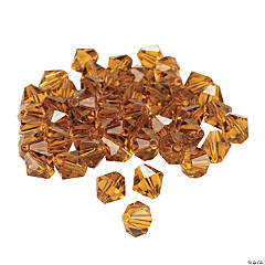 Topaz Crystal Bicone Beads - 8mm