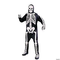 Totally Skele-Bones Standard Adult Men's Skeleton Costume