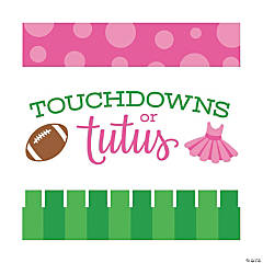 Touchdowns or Tutus Gender Reveal Party Supplies