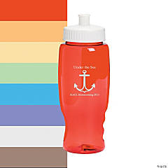 Transparent Anchor Personalized Water Bottles - 27 oz.