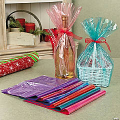 Transparent Basket Cellophane Bags Assortment
