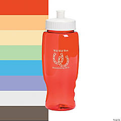 Transparent Horseshoe Personalized Water Bottles - 27 oz.
