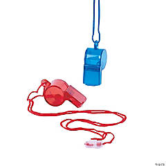 Transparent Patriotic Whistles