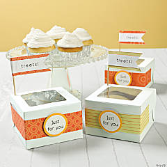 Treats! Paper Flag Cupcake Box Idea
