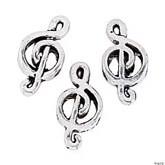 Treble Clef Large Hole Beads - 18mm