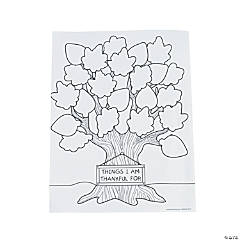 Tree of Thanks Coloring Sheets