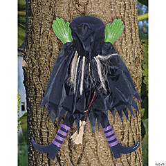 Tree Trunk Witch With Assorted Stockings