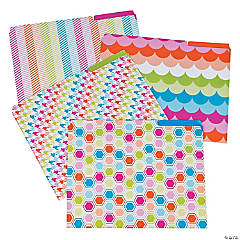 Trendy Patterned File Folders