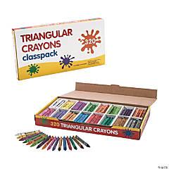 Triangular 16 Color Crayon Classpack