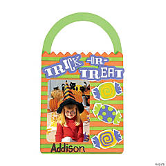 Trick-or-Treat Bag Picture Frame Magnet Craft Kit